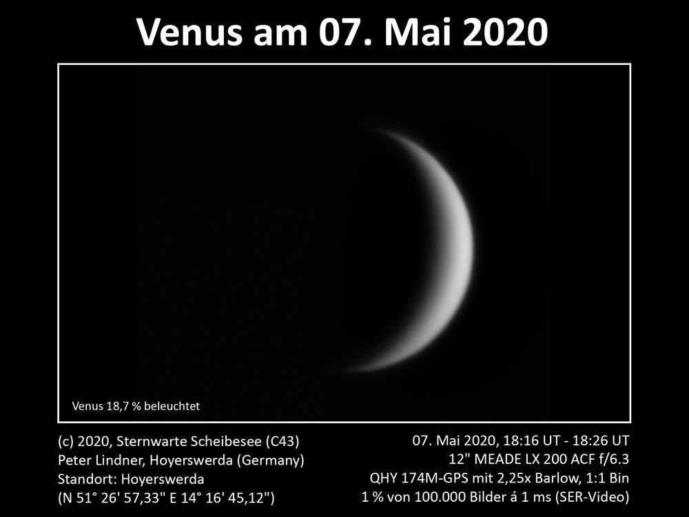 Venus am Abendhimmel 07.05.2020 (Bild: Peter Lindner)