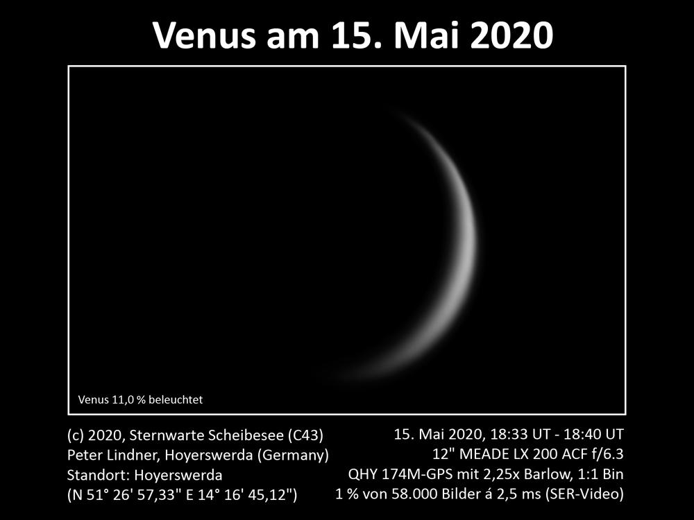 Venus am Abendhimmel 15.05.2020 (Bild: Peter Lindner)