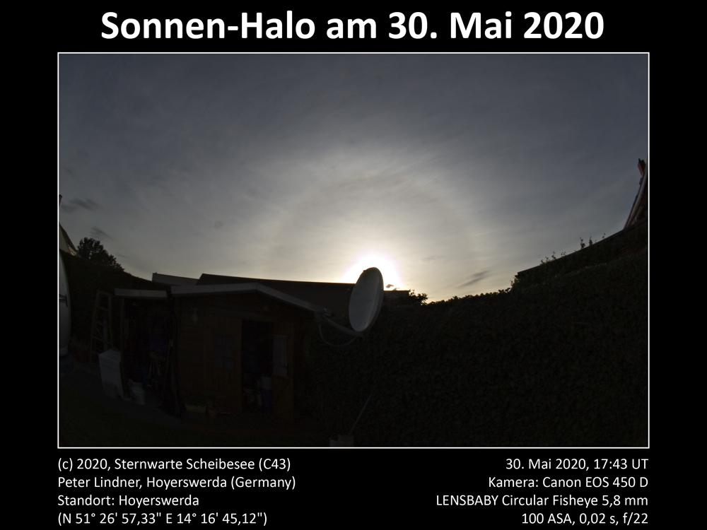 Sonnen-Halo am 30.05.2020 (Bild: Peter Lindner)