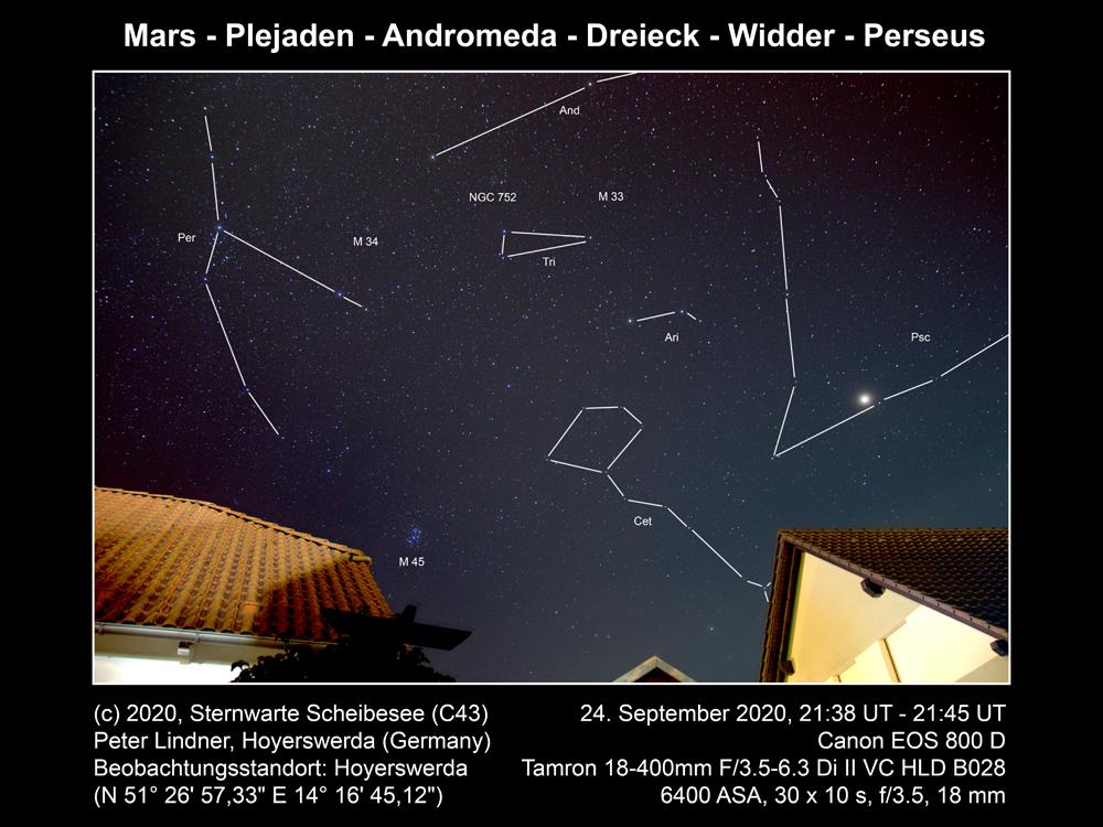 Mars, M45, And, Tri, Ari, Psc (Bild: Peter Lindner)