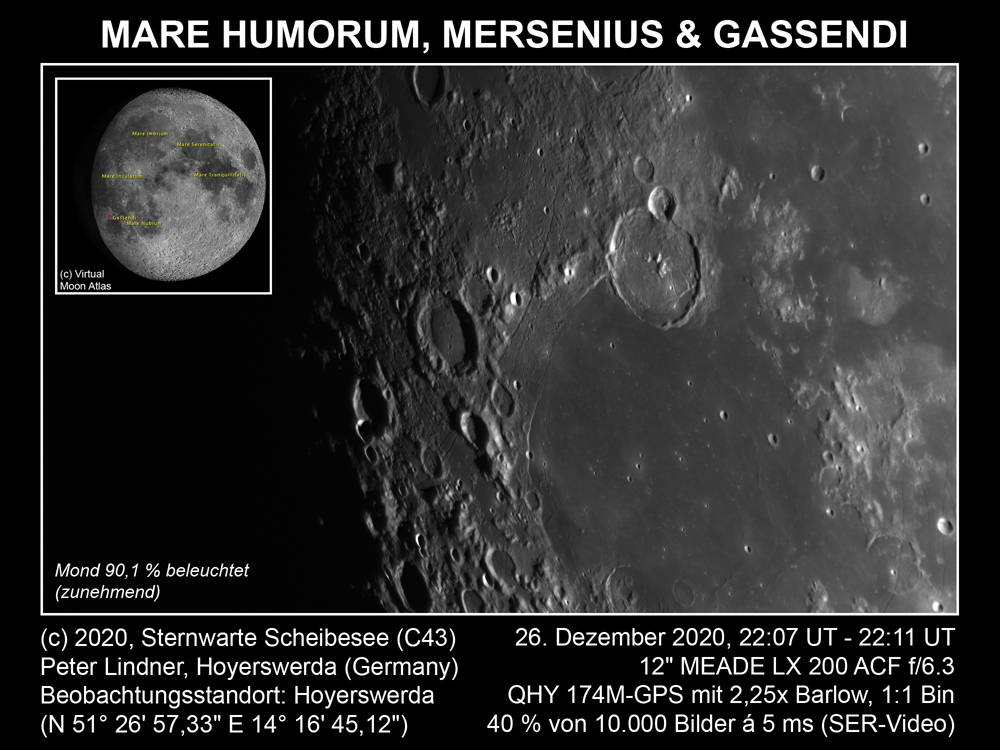 Mond am 26.12.2020 (Bild: Peter Lindner)