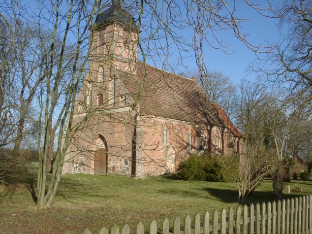 Kirche Landow, D-18573 Dreschwitz, OT Landow