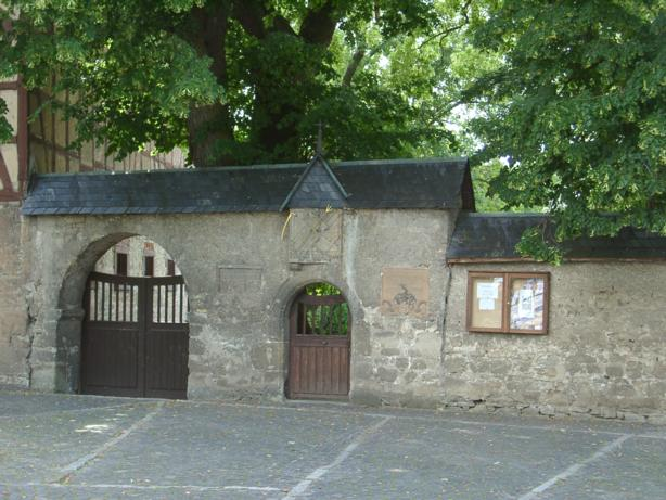 Friedhof Gorsleben, Graveyard of Gorleben, Eingangstor, D-06577 Gorsleben