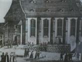 Historische Aufnahme der Sonnenuhr an der Marienkirche, Goethestr./Kirchgasse, D-01824 Königstein