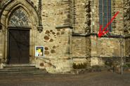 Jacobikirche, Markt, Pfeiler neben Südtor, D-06366 Köthen