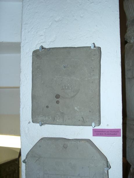 Sonnenuhr im Museum Carl Schweizer, Seegasse 36, D-71540 Murrhardt